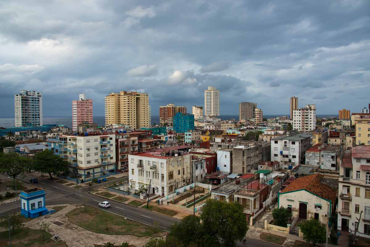 Vedado neighborhood in Havana