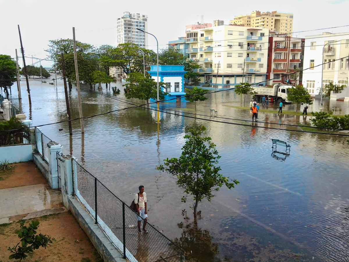flooding in the Vedado neighborhood